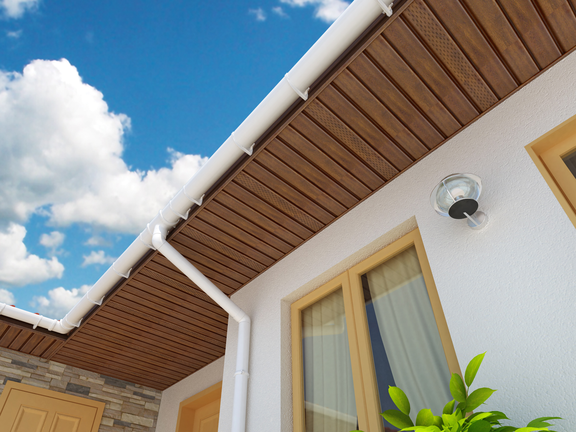 Vinyl soffit fully covered where does the air go charter for Soffit and fascia calculator